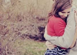 Smiling Hugging Girl