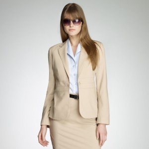Lady in Tan Suit