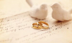 Wedding Bands with Doves